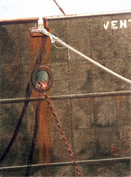 The Venture. Original artwork using canvas with colored pencils.