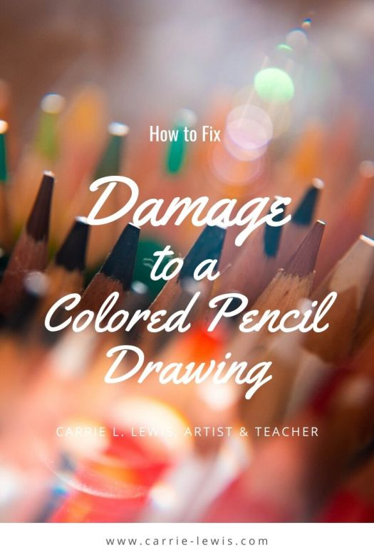 How to Fix Damage to a Colored Pencil Drawing