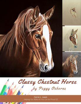 Classy Chestnut Horse Tutorial $14.95