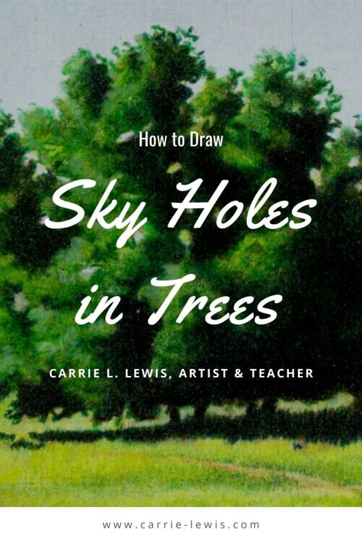 How to Draw Sky Holes in Trees