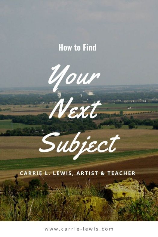 How to Find Your Next Subject