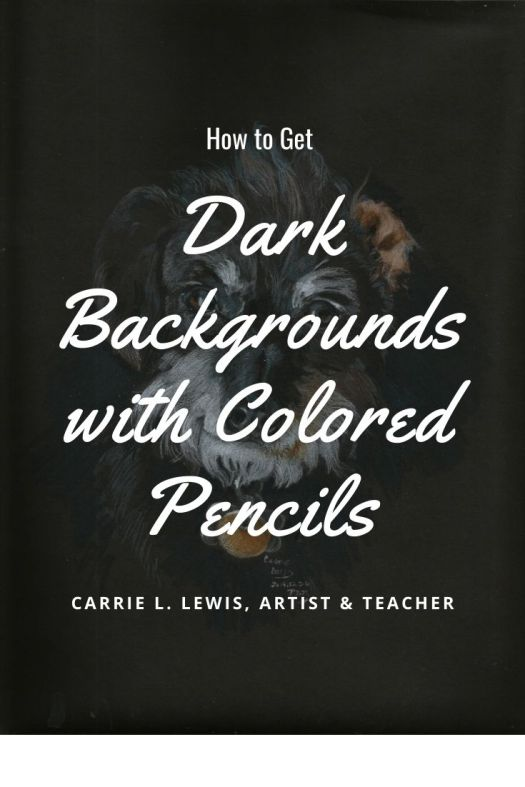How to Get Dark Backgrounds with Colored Pencils