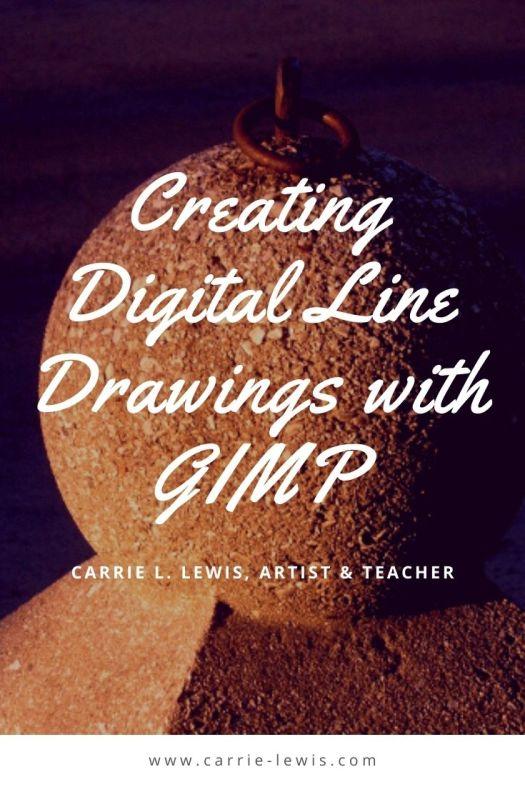 Creating Digital Line Drawings with GIMP
