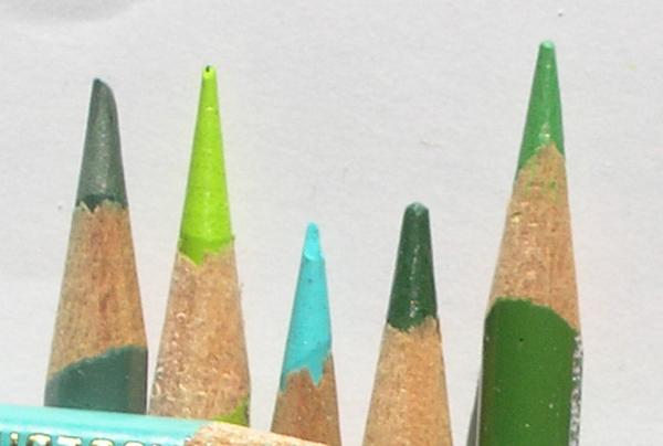 Economic Colored Pencil Sharpening