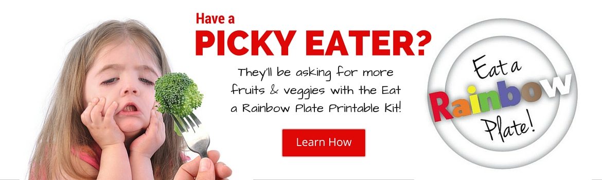 Have a Picky Eater? The Eat a Rainbow Plate Printable Kit can help!