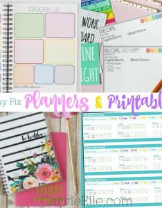 day fix planners  printables also carrie elle rh carrieelle