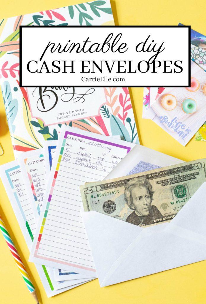 printable diy cash envelope
