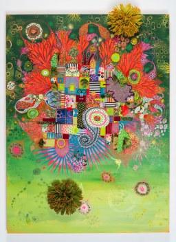Abstracted Garden (Homage to my Grandma Helmi)