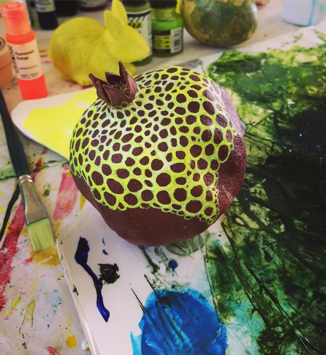 Painting dried pomegranates gratis mamamtz ! pomegranate foodasart fractal carrielederer