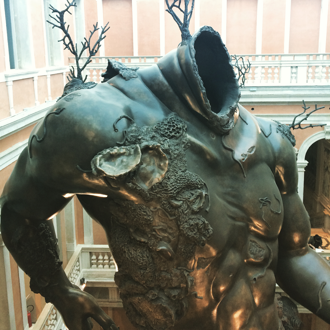 Details from Damien Hirsts larger than life fantastical sculpture Demonhellip