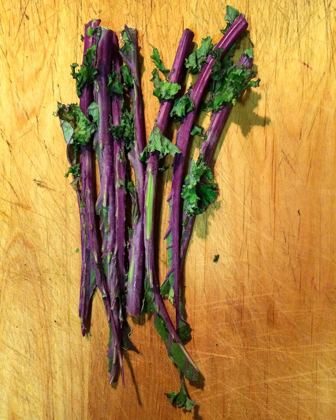 Todays inspiration aubergine stems of curlie kale vestiges of greensohellip