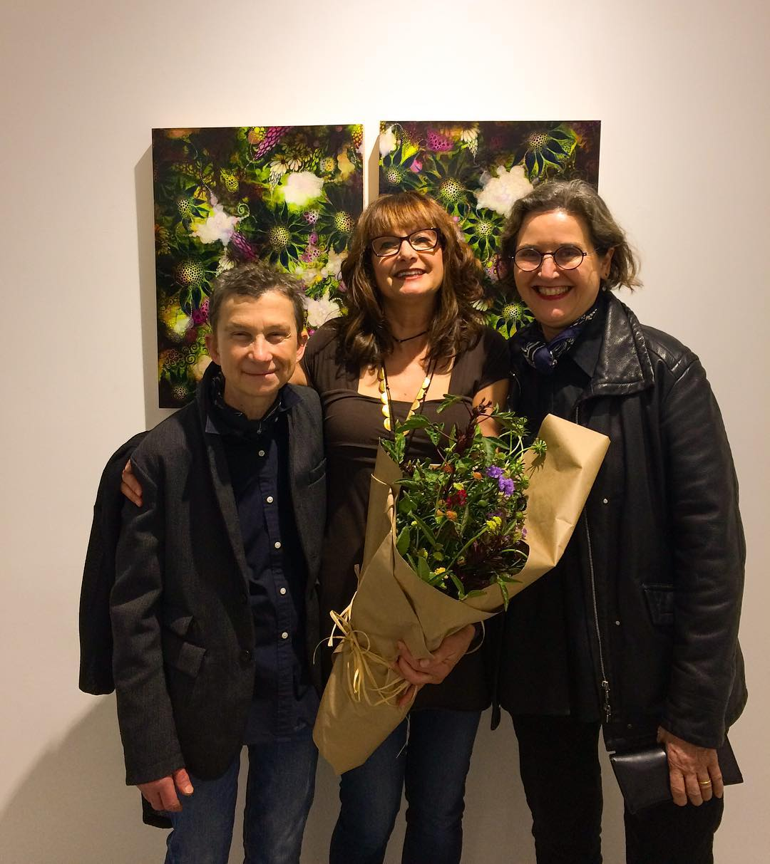 Wonderful opening last night patriciasweetowgallery and loved seeing so manyhellip