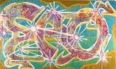 Untitled 1985 Spray su tela cm 21 Ox130