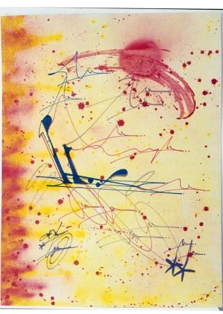 Luxturnomere, High Vibrant Red, Future Futurism (2), 1984 paper cm 73x100