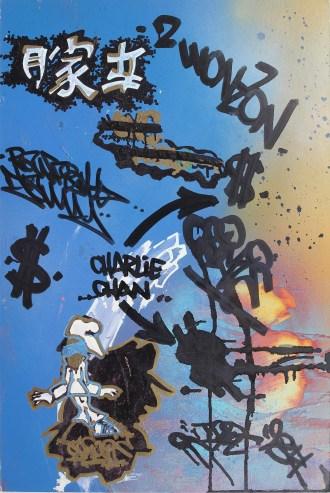 TOXIC, Untitled, tecnica mista su cartone, cm. 76,5 x 51, 1984