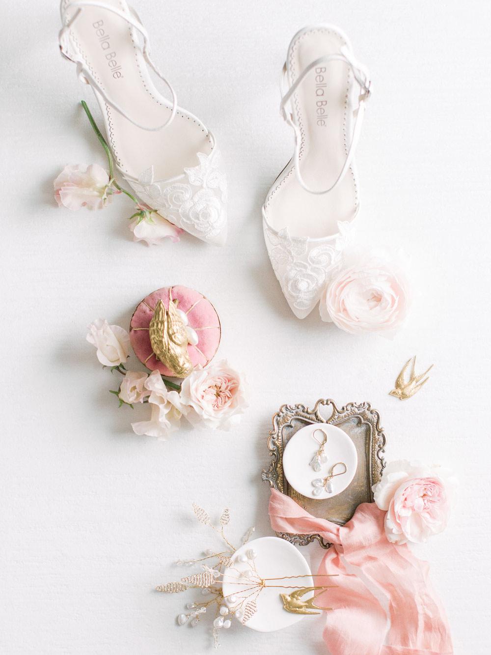 Peach keshi pearl bridal hair comb handcrafted by Carrie Whelan Designs