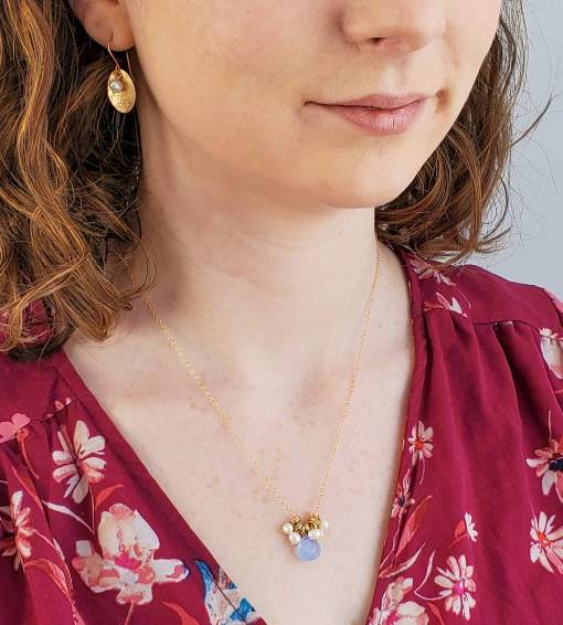 Freshwater pearl and 14kt gold fill handcrafted jewelry by Carrie Whelan Designs