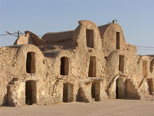 Ruinas de viviendas de abobe