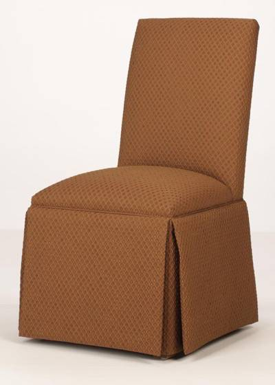 parson chair slip covers desk adjustable arms brunswick parsons - straight back with kick-pleat skirt
