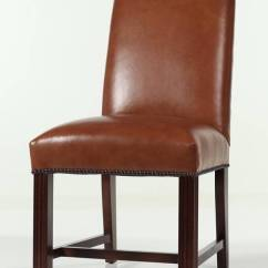 Black Parsons Chair Slipcovers Walmart Bean Bag Chairs Leather Camel Back Chippendale Dining With Nailhead Trim