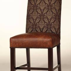 Slipcovers For Living Room Chair Design Car Cambridge Dining With Leather Seat And Nailhead Trim