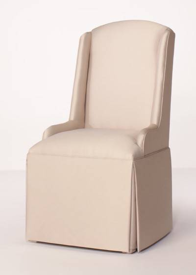 Crescent Back Parsons Wing Chair with KickPleat Skirt