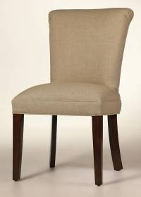 Curved Back Dining Chair - Customize Fabric & Finish - Buy ...