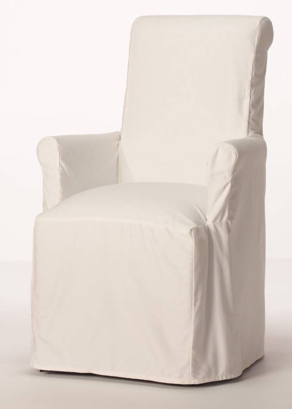 dining arm chair covers white chaise lounge indoor purity slipcover customize style fabric buy direct
