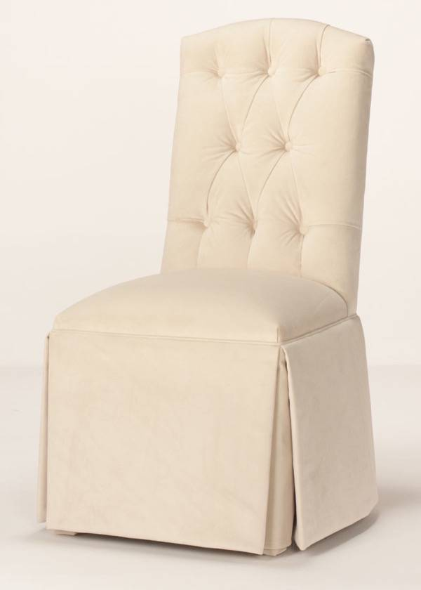 red tufted dining chair outdoor canopy hampton parsons 8 button back - custom fabric buy direct