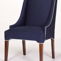 Parson Chair Slip Covers Hanging Bracket Litchfield Parsons Wing - Custom Made In The Usa