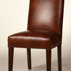Parson Chairs Office Chair Posture Bristol Straight Back Leather Dining With Tapered