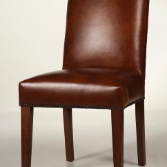 Nailhead Dining Room Chairs Ikea Chair Slipcovers Straight Back Leather With Tapered Legs
