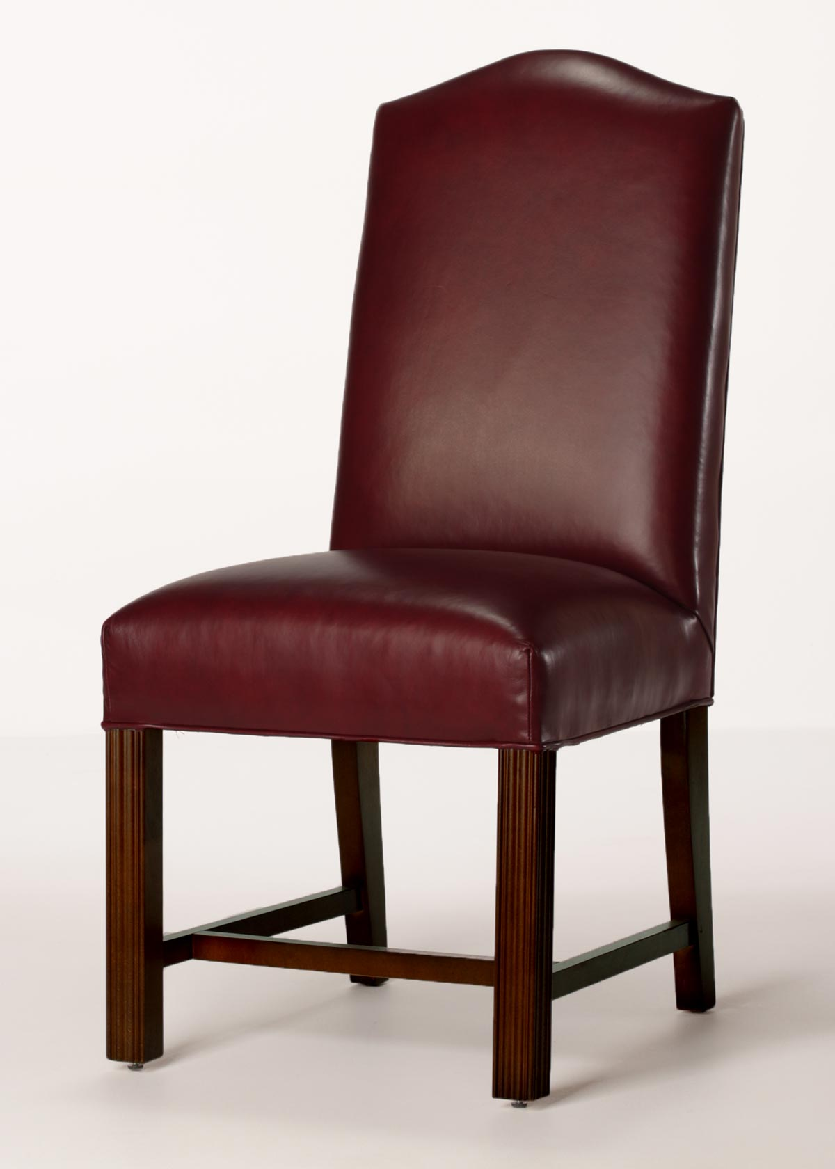 dining chair leather oversized aluminum rocking camel back chippendale with full seat