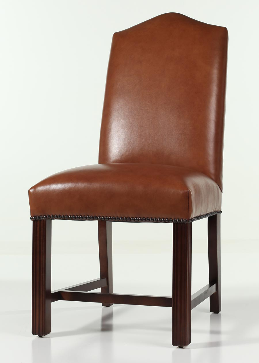 chippendale dining chair heavy duty commode leather camel back with nailhead trim zoom