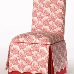 Parson Dining Room Chairs A Chair And Half Roll Back Parsons With Scalloped Skirt