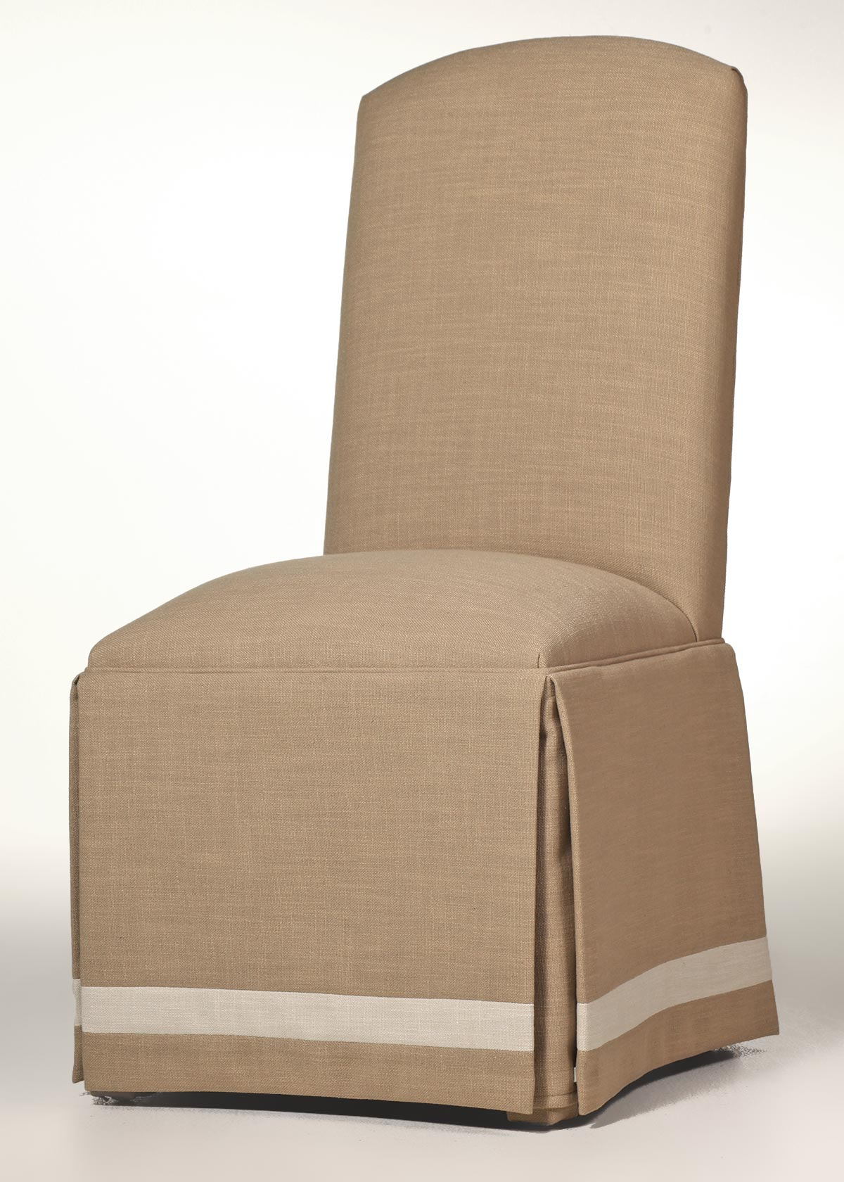 parsons chairs with skirt chair for standing desk crescent back w banded custom