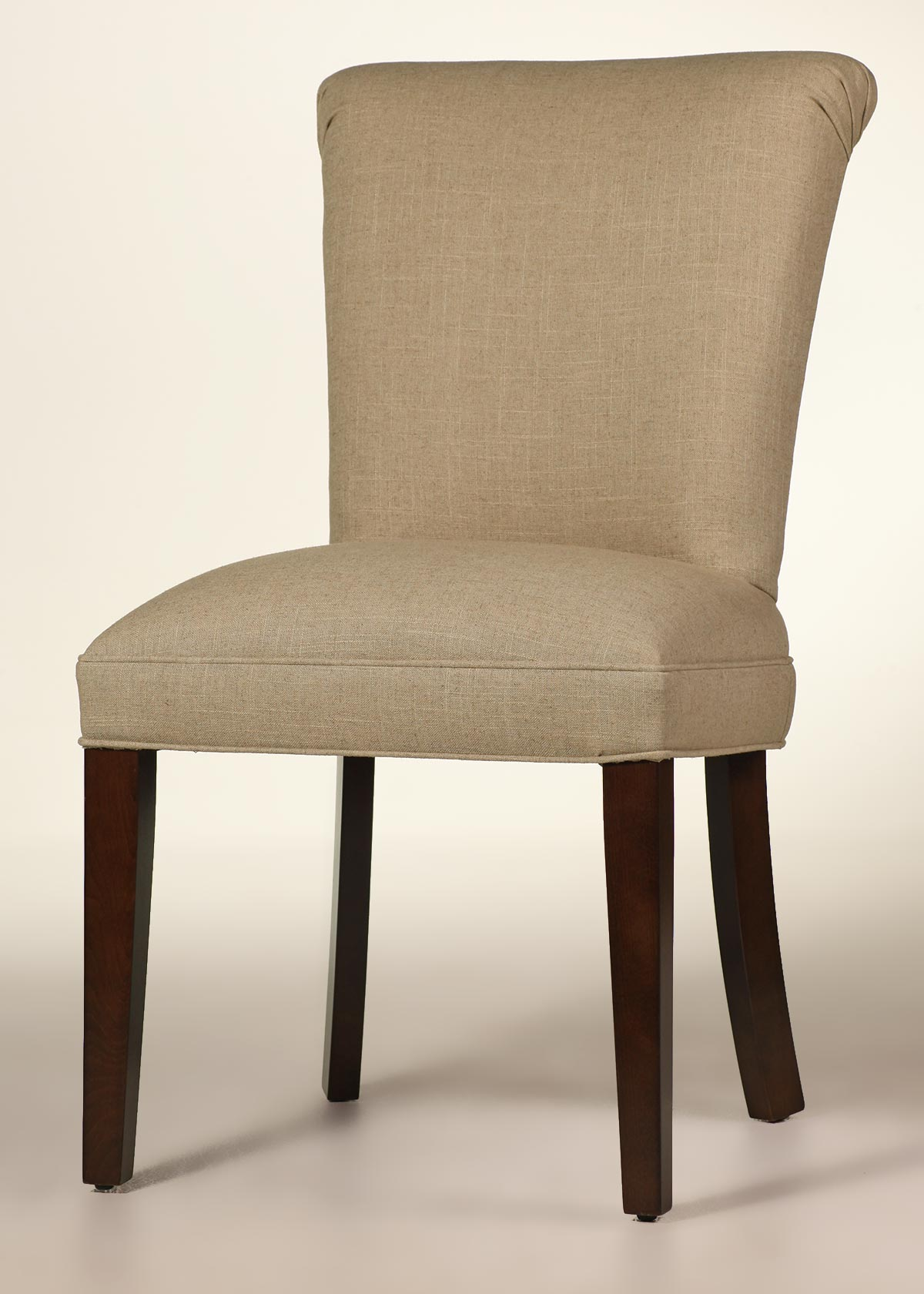 Curved Back Dining Chair  Customize Fabric  Finish  Buy