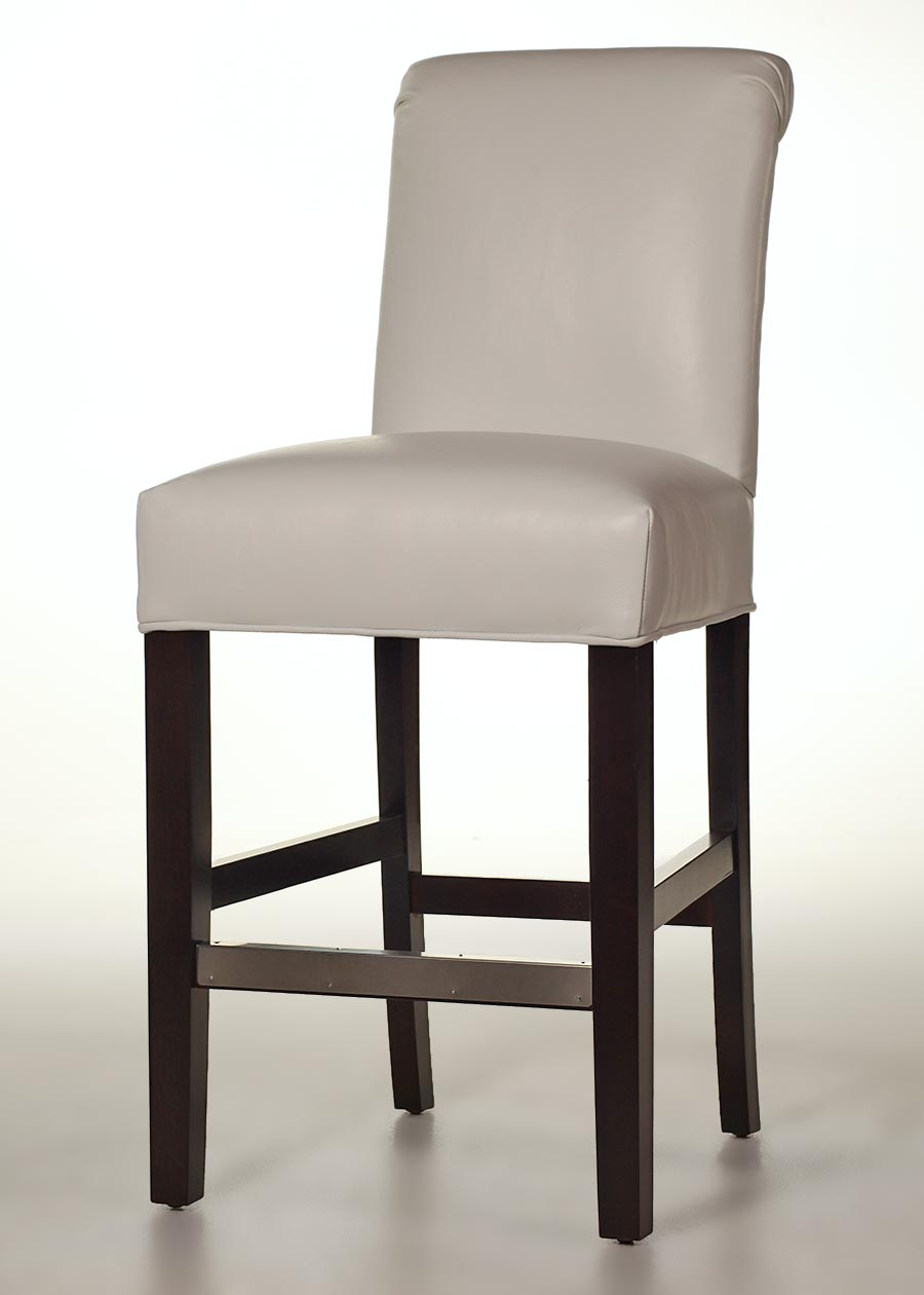 Huron Leather Counter Stool  Customize Color  Finish