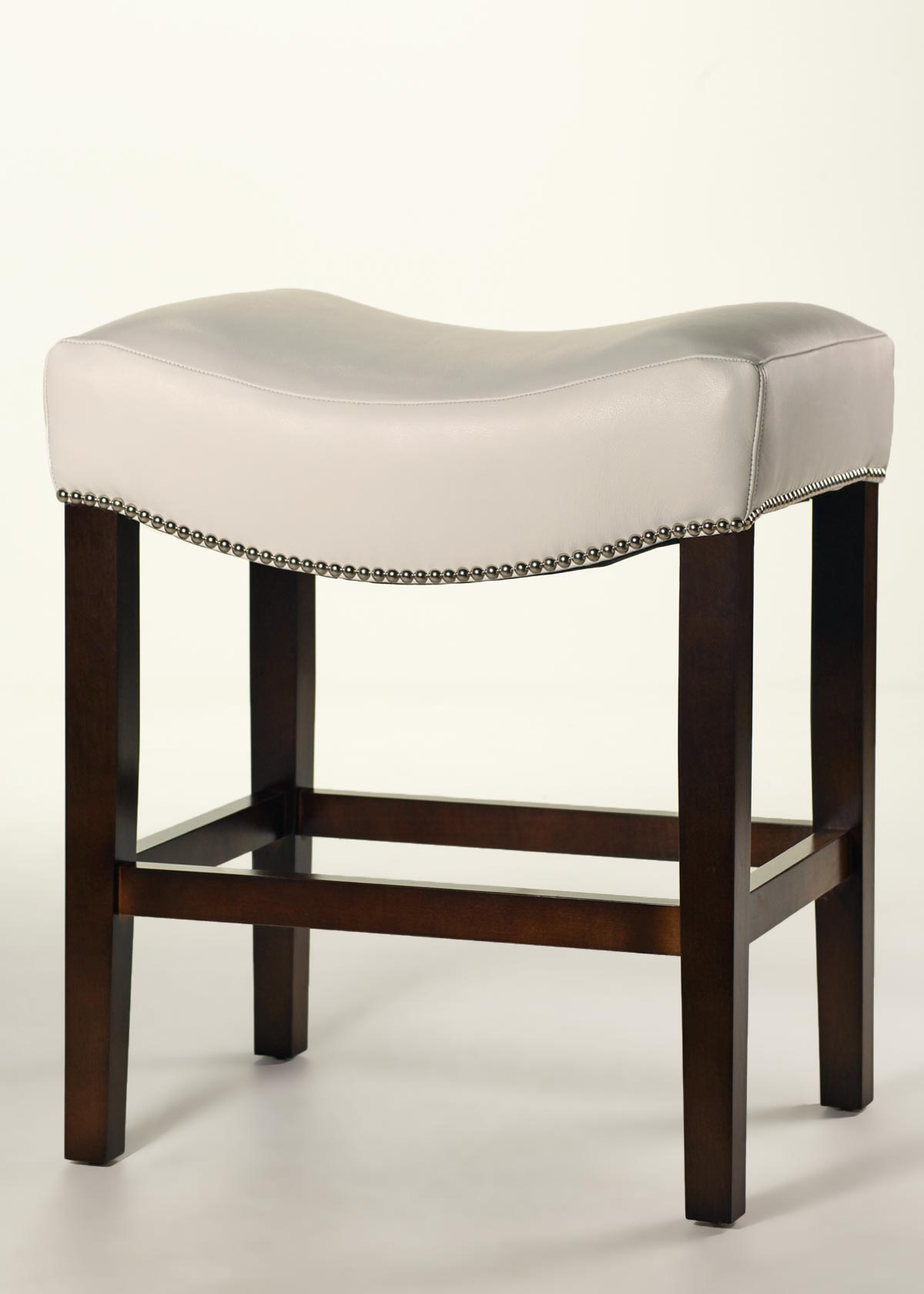 slipcovers for parsons chairs mirrored dining table and cody saddle stool - custom leather counter, finish, trim buy direct