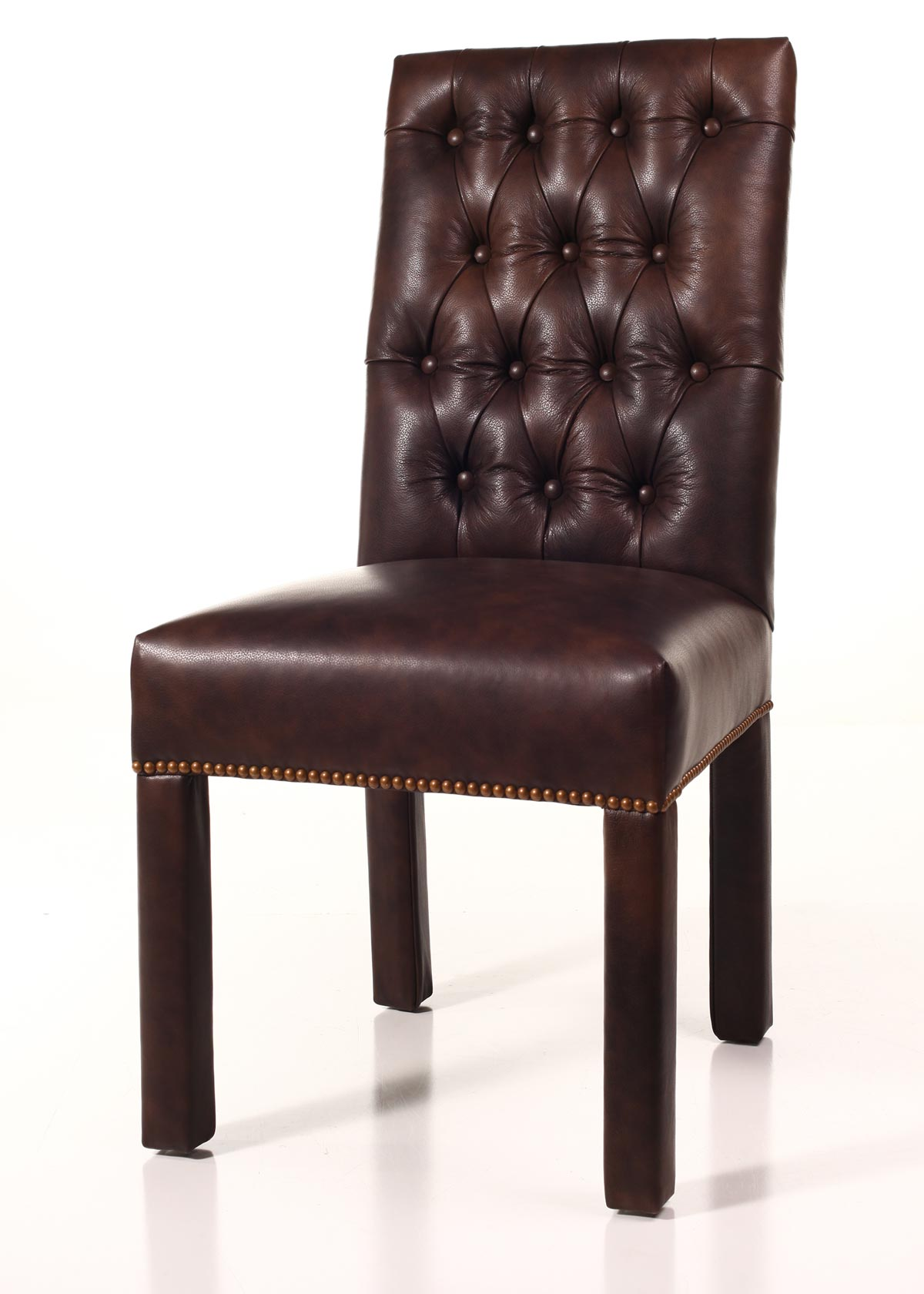 parson chairs cosco high chair model 03354 leather tufted back parsons