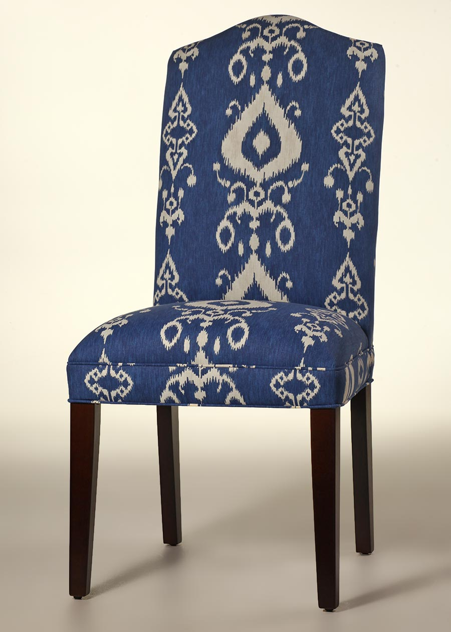 Camel Back Dining Chair with Tapered Legs  Factory Direct