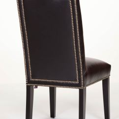 Leather Side Chair Oval Back Dining Middleton Zoom