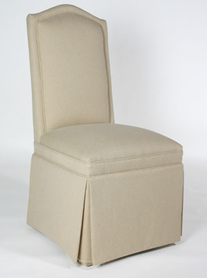 slipcovers for parsons chairs posture chair home camel back w/ inset border - customize fabric buy direct