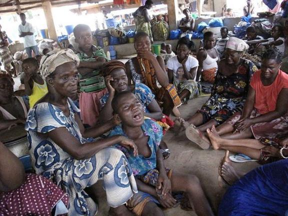 Productores de cacao refugiados en Costa de Marfil./ Intermon Oxfam