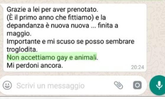"""Una guest house a Tropea non affitta a """"gay e animali"""""""