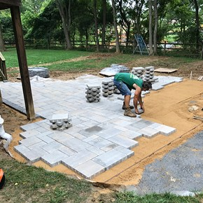 Paver Patio Installation Carroll Landscaping Inc.