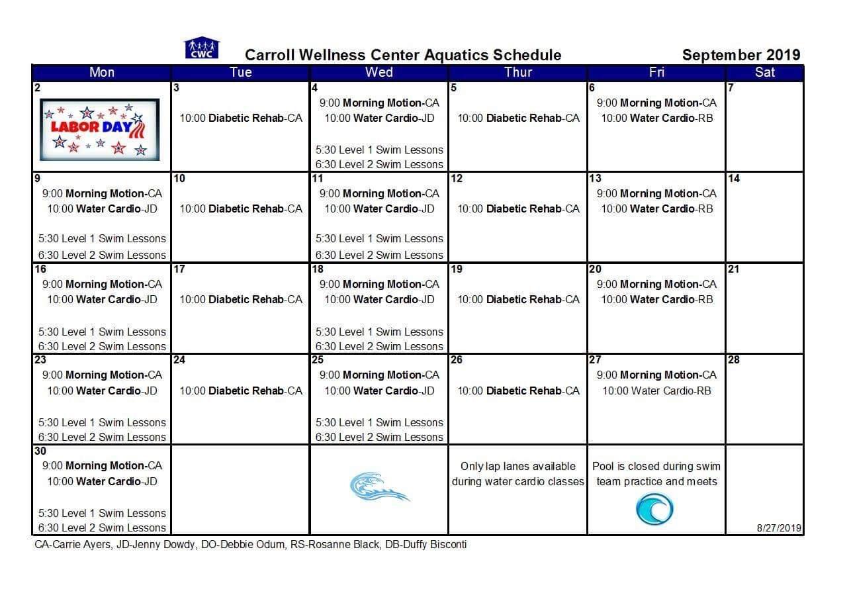 Aquatics - Carroll Wellness Center