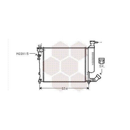 radiateur moteur citroen zx année: 1991-1997 version