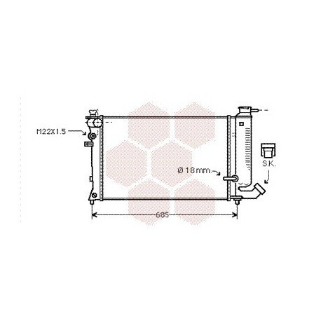 radiateur moteur citroen zx année: 1994-1997 version
