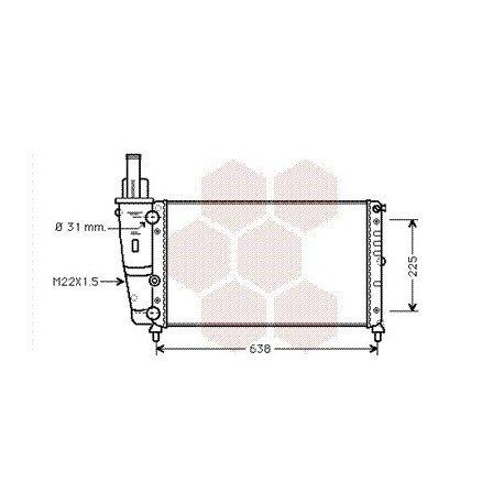 radiateur moteur fiat punto année: 1993-1999 version